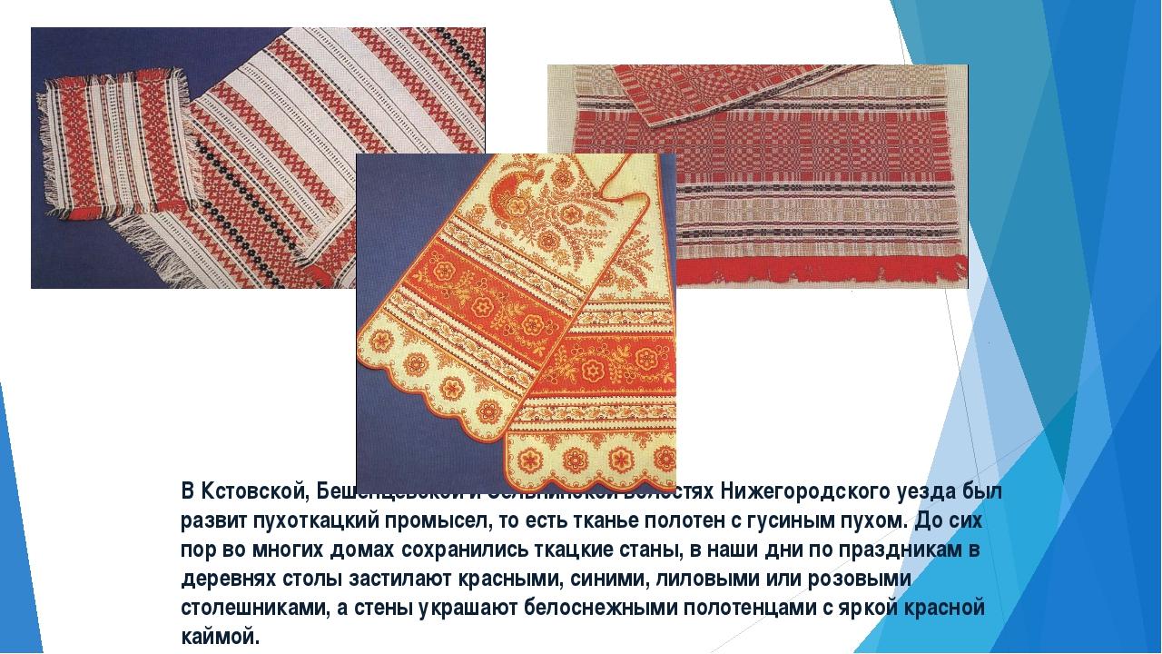 В Кстовской, Бешенцевской и Сельнинской волостях Нижегородского уезда был раз...