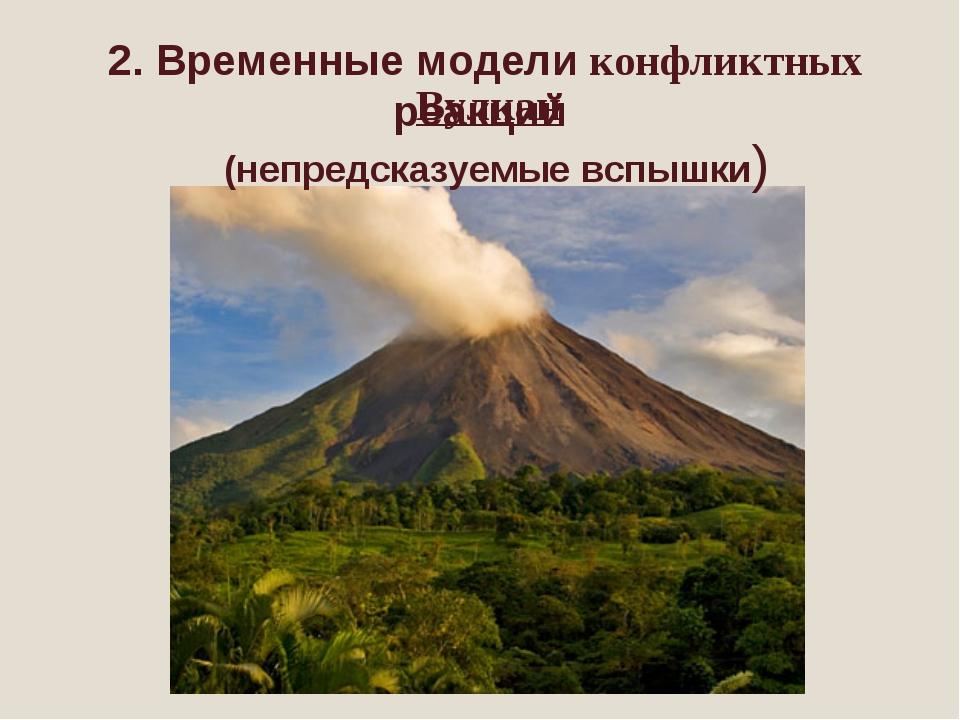 2. Временные модели конфликтных реакций Вулкан (непредсказуемые вспышки)