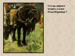 Что вы можете сказать о коне Ильи Муромца ?