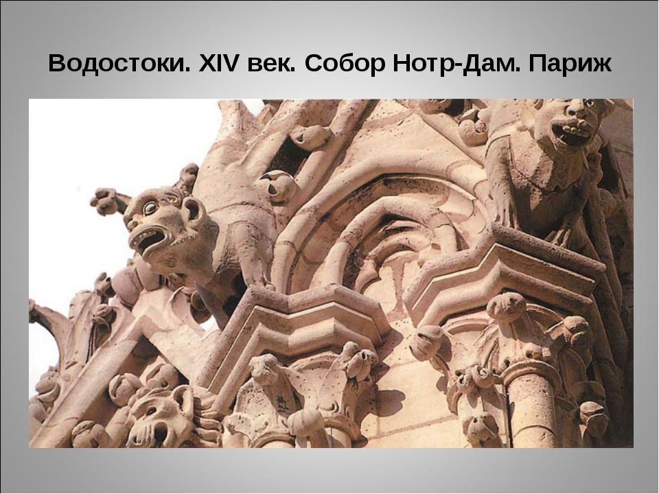 Водостоки. XIV век. Собор Нотр-Дам. Париж