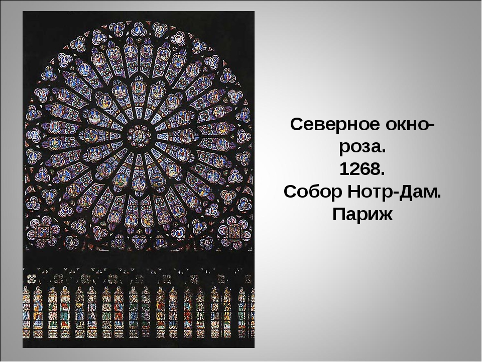Северное окно-роза. 1268. Собор Нотр-Дам. Париж