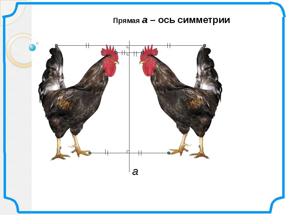 Прямая а – ось симметрии а