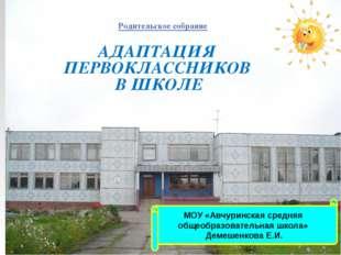 МОУ «Авчуринская средняя общеобразовательная школа» Демешенкова Е.И. АДАПТАЦИ