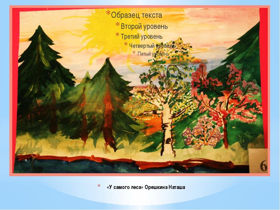 «У самого леса» Орешкина Наташа