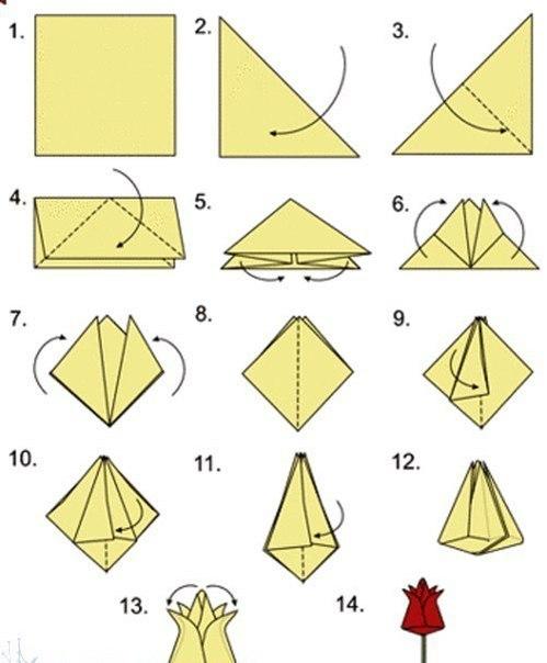 Оригами тюльпан - Женские вопросы