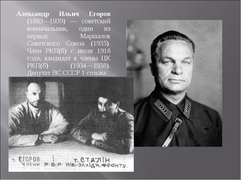 Александр Ильич Егоров (1883—1939) — советский военачальник, один из первых М...