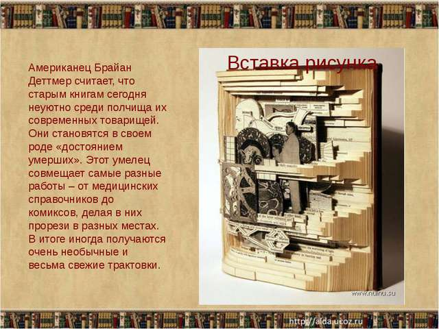 Американец Брайан Деттмер считает, что старым книгам сегодня неуютно среди п...