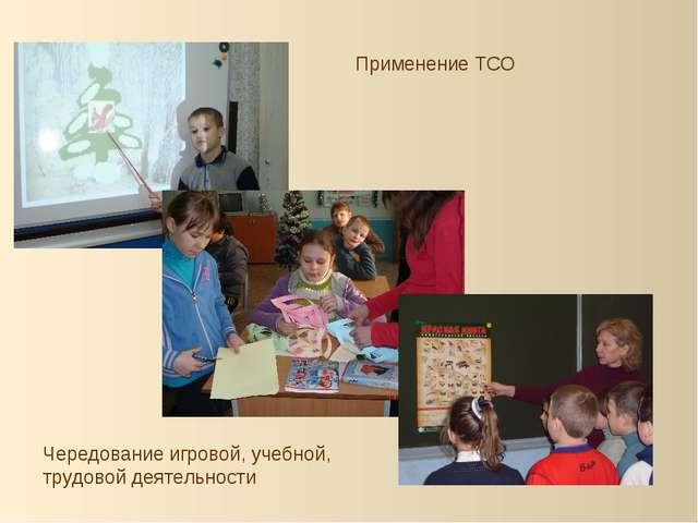 Применение ТСО Чередование игровой, учебной, трудовой деятельности
