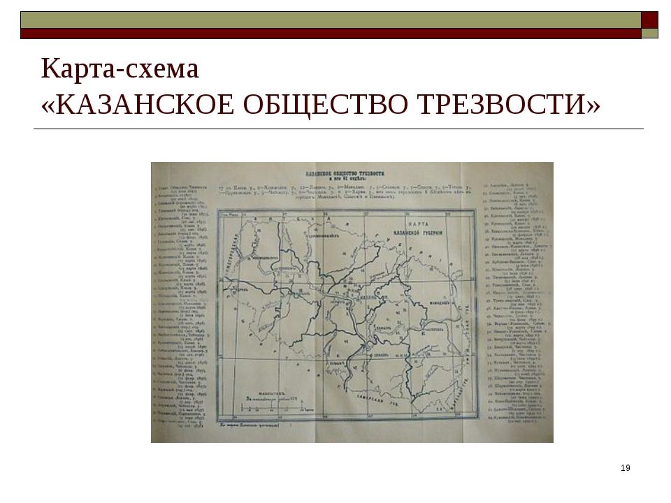 * Карта-схема «КАЗАНСКОЕ ОБЩЕСТВО ТРЕЗВОСТИ»