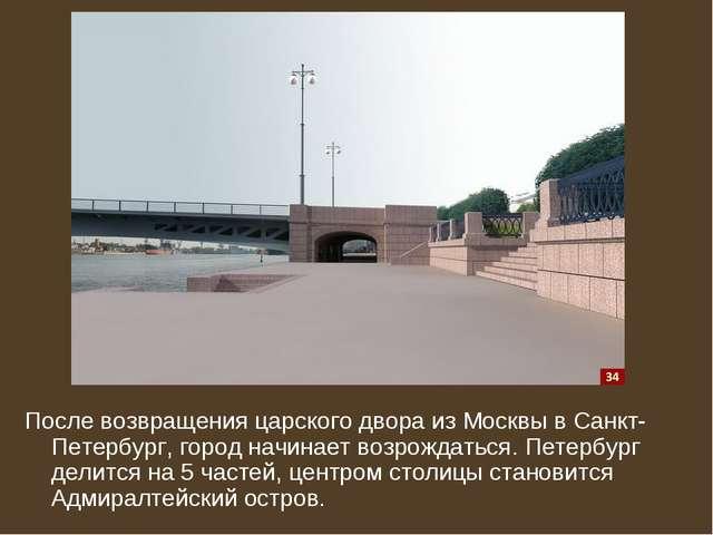 После возвращения царского двора из Москвы в Санкт-Петербург, город начинает...