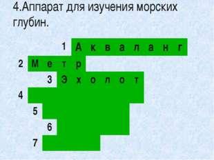 5.Прибор для определения сторон света. 1 А к в а л а н г 2 М е т р 3 Э х о л