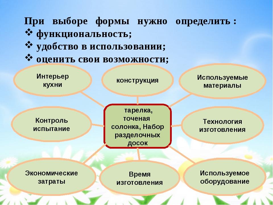 При выборе формы нужно определить : функциональность; удобство в использовани...
