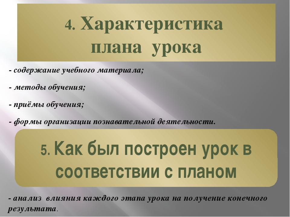 -содержание учебного материала;  -методы обучения;  -приёмы обучения; ...
