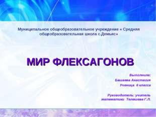 Муниципальное общеобразовательное учреждение « Средняя общеобразовательная шк