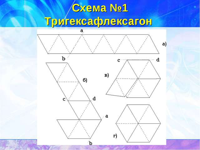 Схема №1 Тригексафлексагон