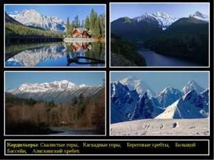 Кордильеры: Скалистые горы, Каскадные горы, Береговые хребты, Большой Бассей
