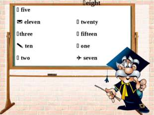 eight aw an co  five	  eleven	 twenty three	 fifteen  ten	 one  two