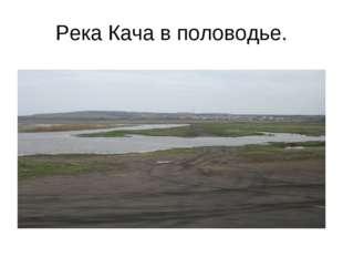 Река Кача в половодье.