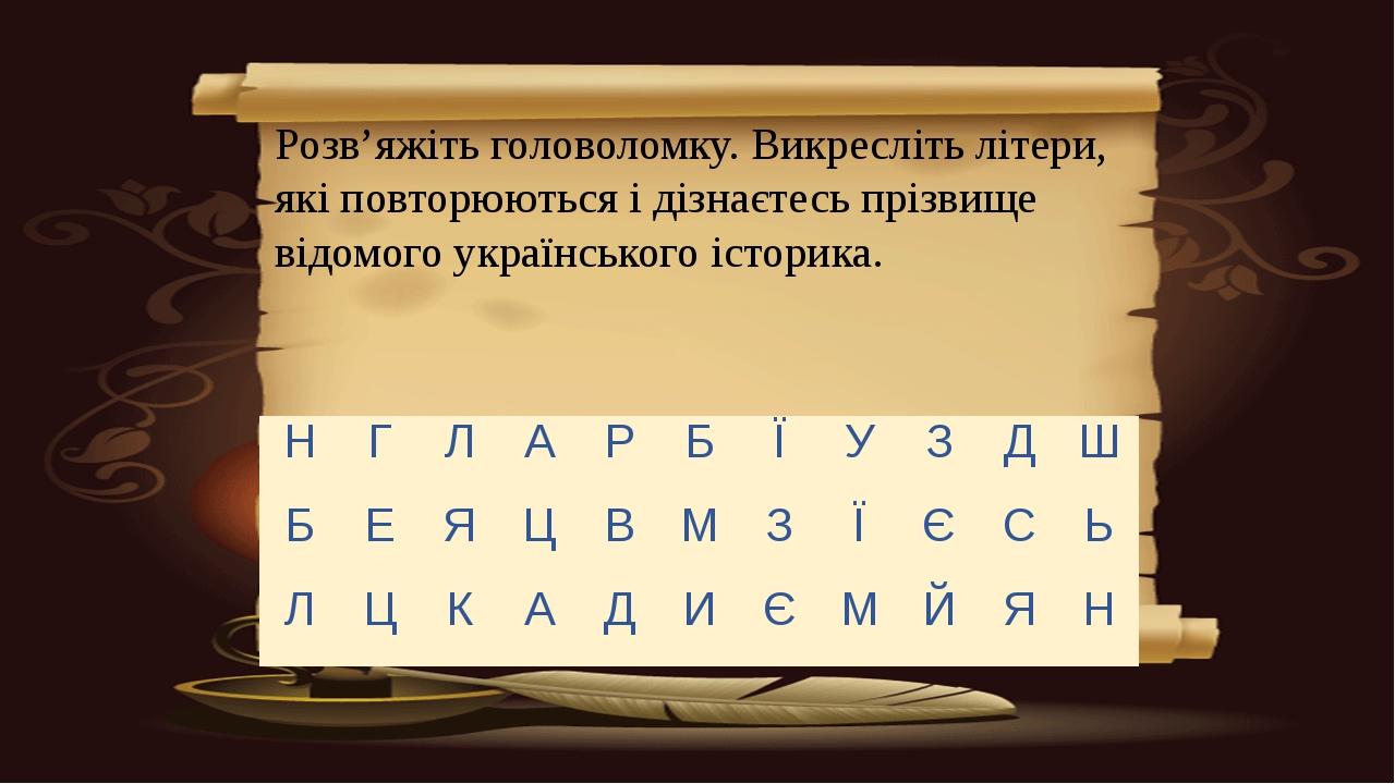 Розв'яжіть головоломку. Викресліть літери, які повторюються і дізнаєтесь прі...