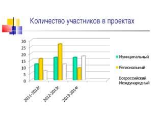 Количество участников в проектах