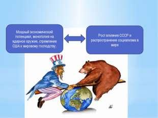 Рост влияния СССР и распространение социализма в мире Мощный экономический по