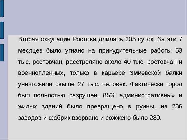Вторая оккупация Ростова длилась 205 суток. За эти 7 месяцев было угнано на п...