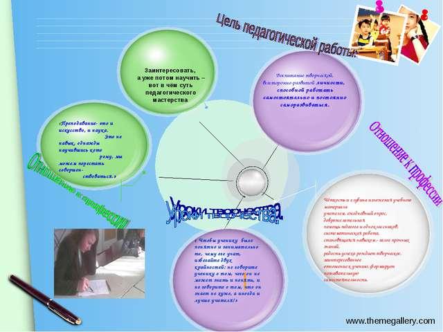 Воспитание творческой, всесторонне-развитой личности, способной работать само...