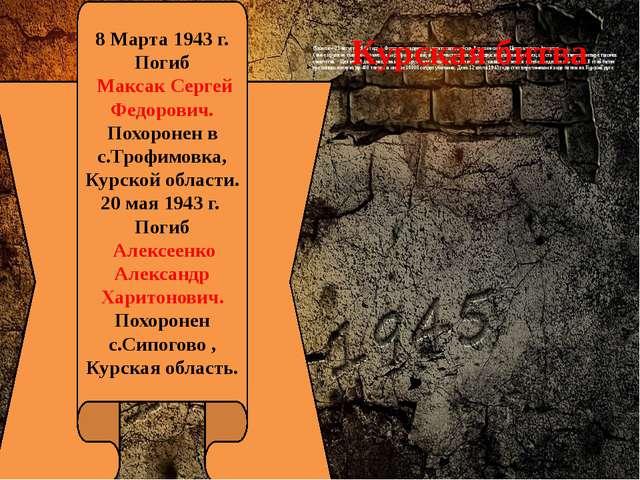 (5 июля – 23 августа 1943 года ). Фашисты надеялись уничтожить войска Вороне...