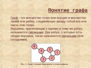 Граф - это множество точек или вершин и множество линий или ребер, соединяющи