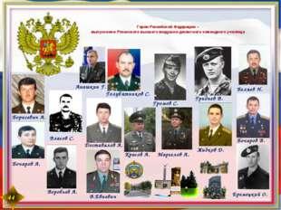 Герои Российской Федерации – выпускники Рязанского высшего воздушно-десантн
