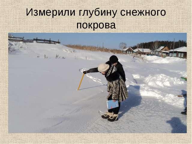 Измерили глубину снежного покрова