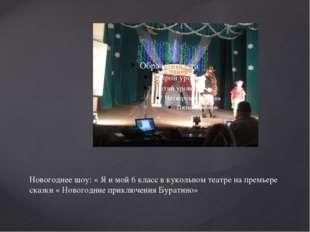 Новогоднее шоу: « Я и мой 6 класс в кукольном театре на премьере сказки « Нов