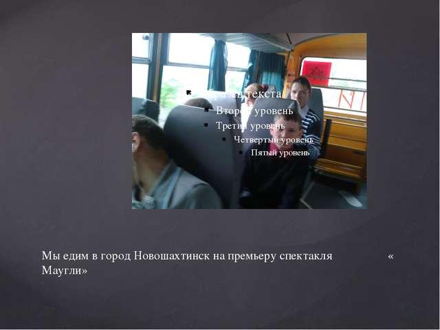 Мы едим в город Новошахтинск на премьеру спектакля « Маугли»