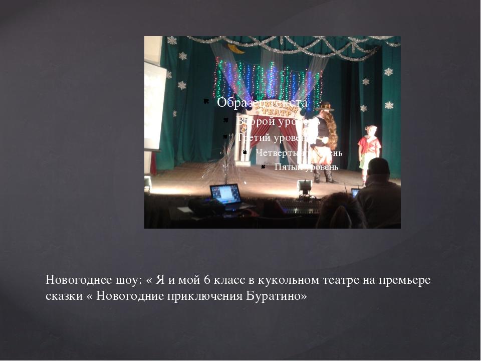 Новогоднее шоу: « Я и мой 6 класс в кукольном театре на премьере сказки « Нов...