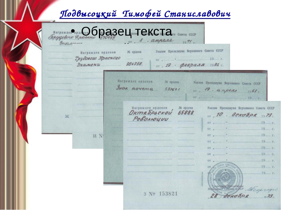 Подвысоцкий Тимофей Станиславович