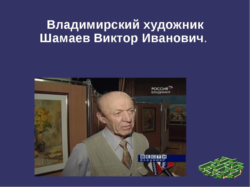 Владимирский художник ШамаевВикторИванович.