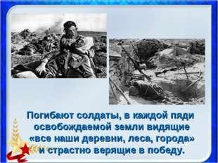 Погибают солдаты, в каждой пяди освобождаемой земли видящие «все наши деревни