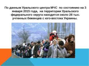 По данным Уральского центра МЧС по состоянию на 3 января 2015 года, на террит