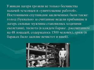 Узникам лагеря грозили не только бесчинства палачей-эсэсовцев и «уничтожение