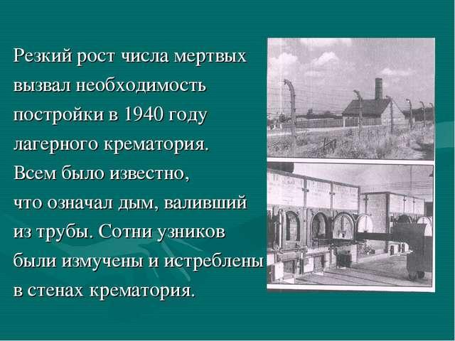 Резкий рост числа мертвых вызвал необходимость постройки в 1940 году лагерно...