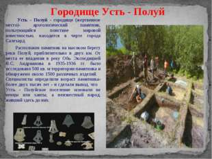 Усть - Полуй - городище (жертвенное место)- археологический памятник, пользу