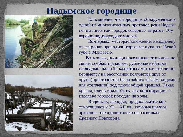 Надымское городище Есть мнение, что городище, обнаруженное в одной из многочи...