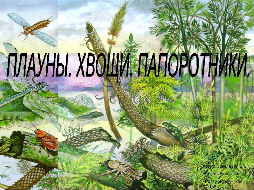 Автор: Савельева Е.С. Учитель биологии МАОУ «Чердынская СОШ»