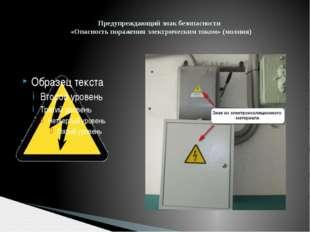 Предупреждающий знак безопасности «Опасность поражения электрическим током»