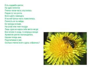 Есть кадамба-цветок; На один лепесток Пчелок патая часть опустилась. Рядом