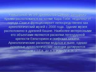 Уникальный музей древностей Северо-Западного Крыма расположился на холме Кар