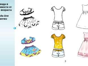 Одежда в зависимости от пола и возраста а) одежда для девочки