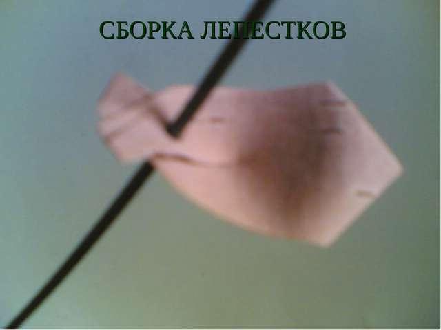 СБОРКА ЛЕПЕСТКОВ