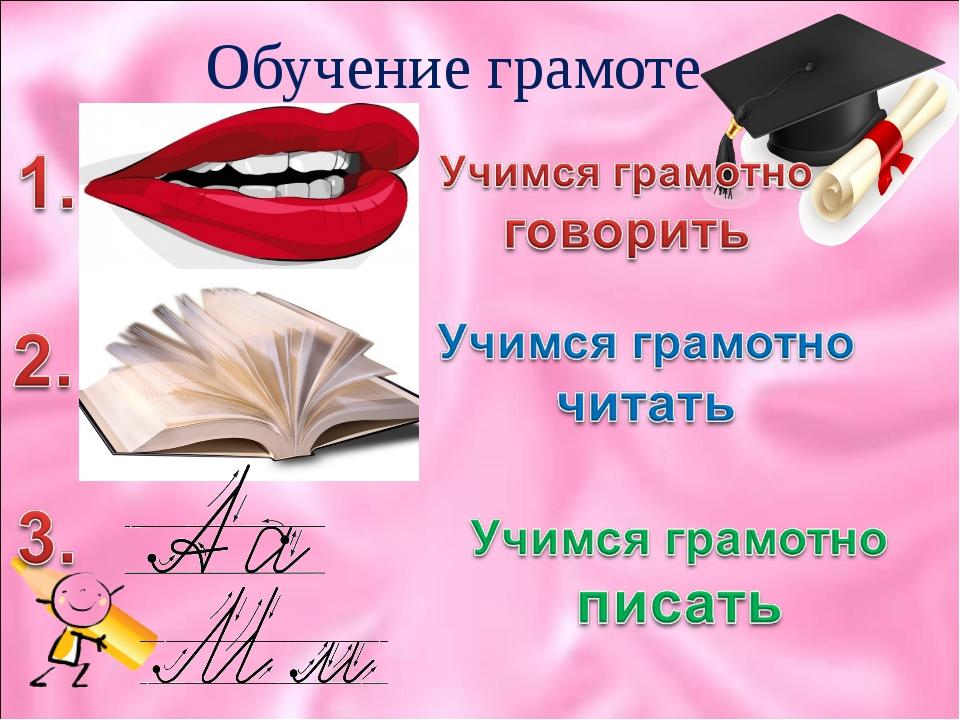 Обучение грамоте