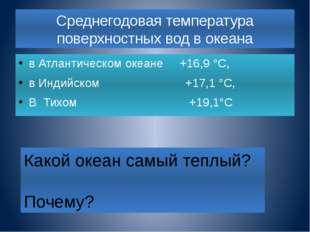 Как изменяется температура вод Мирового океана с глубиной? 0м +16,0° 200 м